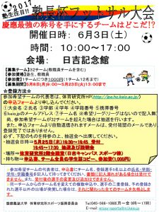 2017塾長杯フットサル大会のサムネイル